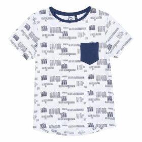 3 Pommes Kid Boy White Tee-Shirt