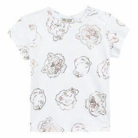 Kenzo Baby Girl Tee-Shirt White