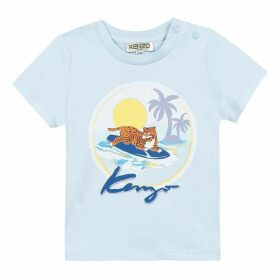 Kenzo Baby Boy Tee-Shirt Blue Grey