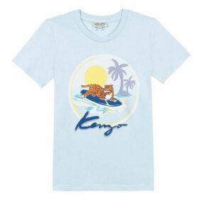 Kenzo Kid Boy Tee-Shirt Blue Grey
