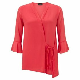 James Lakeland Side Tie V-Neck Blouse