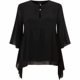 James Lakeland Keyhole Neck Blouse