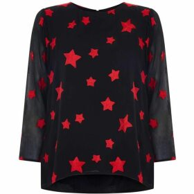 Nougat Maple Star Embroidered Blouse