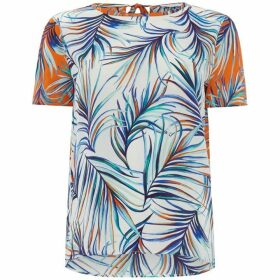 Boss Short sleeve blouse with leaf print