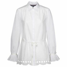 Tommy Hilfiger Hayette Embroidered Trim Blouse