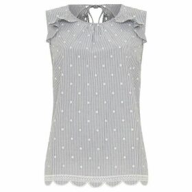 Phase Eight Fi Frill Spot Blouse