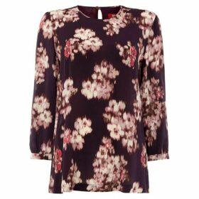 Max Mara Studio Floral print long sleeve blouse