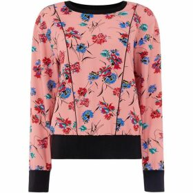 Sportmax Code Fratte printed long sleeve blouse