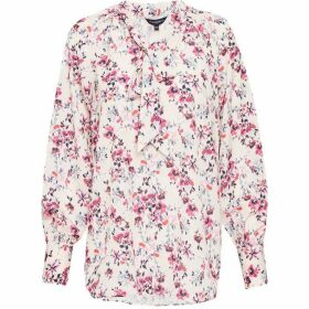 French Connection Linosa Crepe Light Floral Blouse