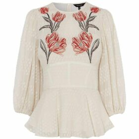 Karen Millen Floral Embroidered Blouse