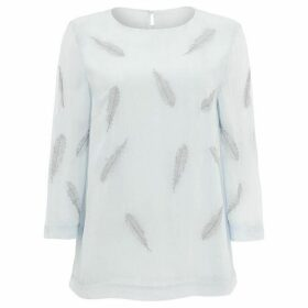 Phase Eight Odette Embroidered Feather Blouse