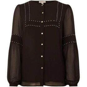 MICHAEL Michael Kors Button up lace insert blouse