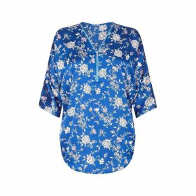 Yumi Botanical Feature Zip Blouse