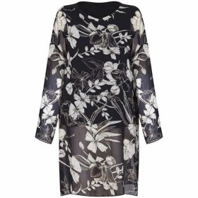 Mela London Curve Floral Side Slit Blouse