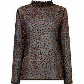 Another Label Burn Out Star Blouse
