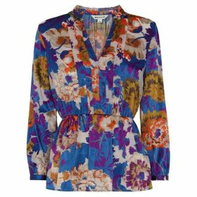 Whistles Autumn Bloom Devore Blouse
