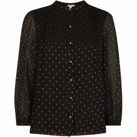 Whistles Gianni Gold Dobby Blouse