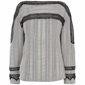 Karen Millen Embroidered Gingham Blouse