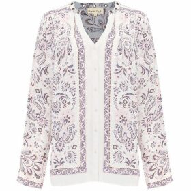 Phase Eight Asha Paisley Eyelet Blouse