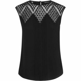 Karen Millen Embroidered Lace Sleeveless Blouse