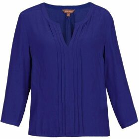 Jolie Moi Pleat Front V Neck Blouse