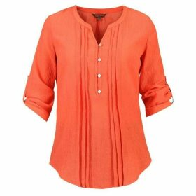 Jolie Moi Textured Button Front Blouse