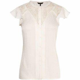 Karen Millen Linear Lace Blouse
