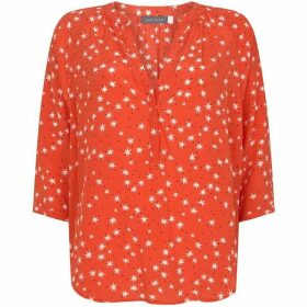 Mint Velvet Orange Star Print Blouse