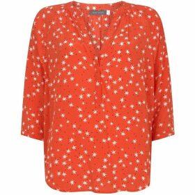 Mint Velvet Orange Star Print Blouse