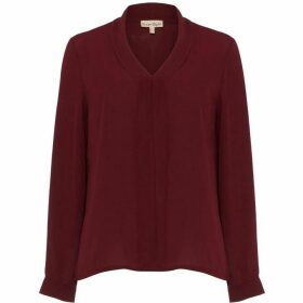 Phase Eight Rowan V-Neck Ruffle Blouse