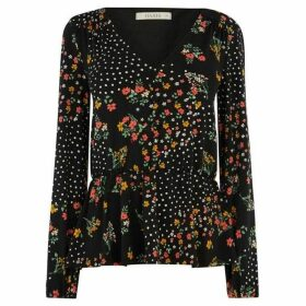Oasis Ditsy Spot Button Blouse