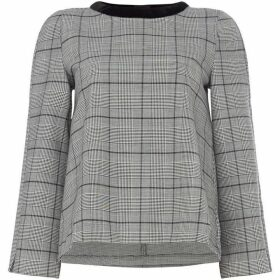 Marella Azzorre check blouse