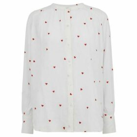 Whistles Heart Embroidered Blouse
