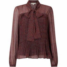 MICHAEL Michael Kors Prairie vine bow blouse