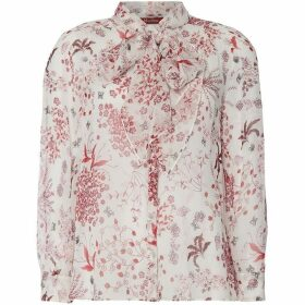 Max Mara Studio Pussy bow tie floral blouse