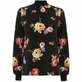 Oasis Bloom High Neck Blouse