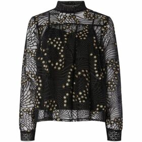 Biba Lace and Sequin Blouse
