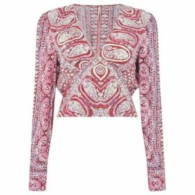 Free People Wild and Free Long Sleeve Blouse