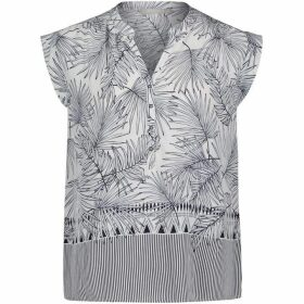 Betty Barclay Palm Print Blouse