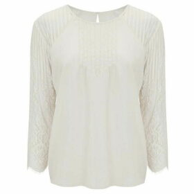 Nougat Heather Lace Sleeve Blouse