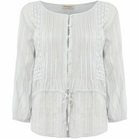 Repeat Cashmere Embroidered fleck blouse