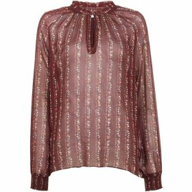 Second Female Floral Print Blouse In Port Royale