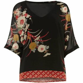 Phase Eight Oriental Print Blouse