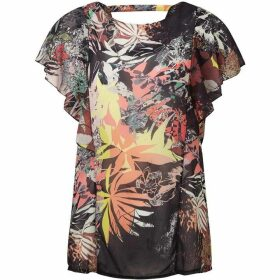 James Lakeland Print Ruffle Sleeve Blouse