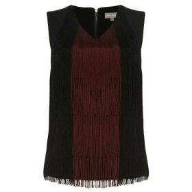Phase Eight Michaela Fringe V-Neck Blouse