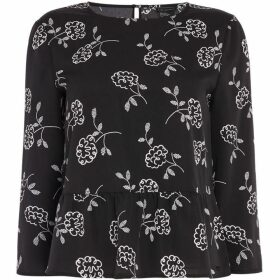 Armani Exchange Long Sleeve Flower Blouse