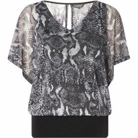 Dorothy Perkins Billie Black Label Snake Print Blouse