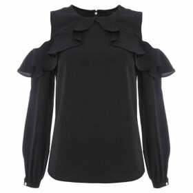Lauren Kinsun ruffle detail blouse