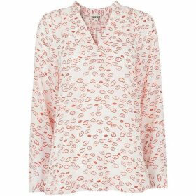 Whistles Catalina Lips Print Blouse