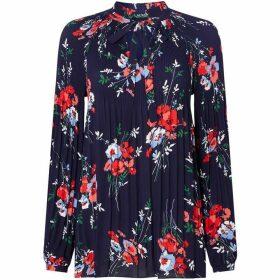 Lauren Duong floral print tie blouse